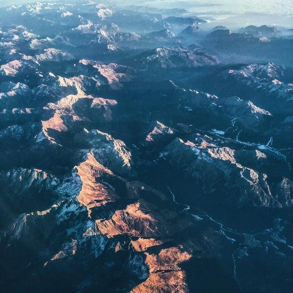 Захватывающий дух вид на Альпы