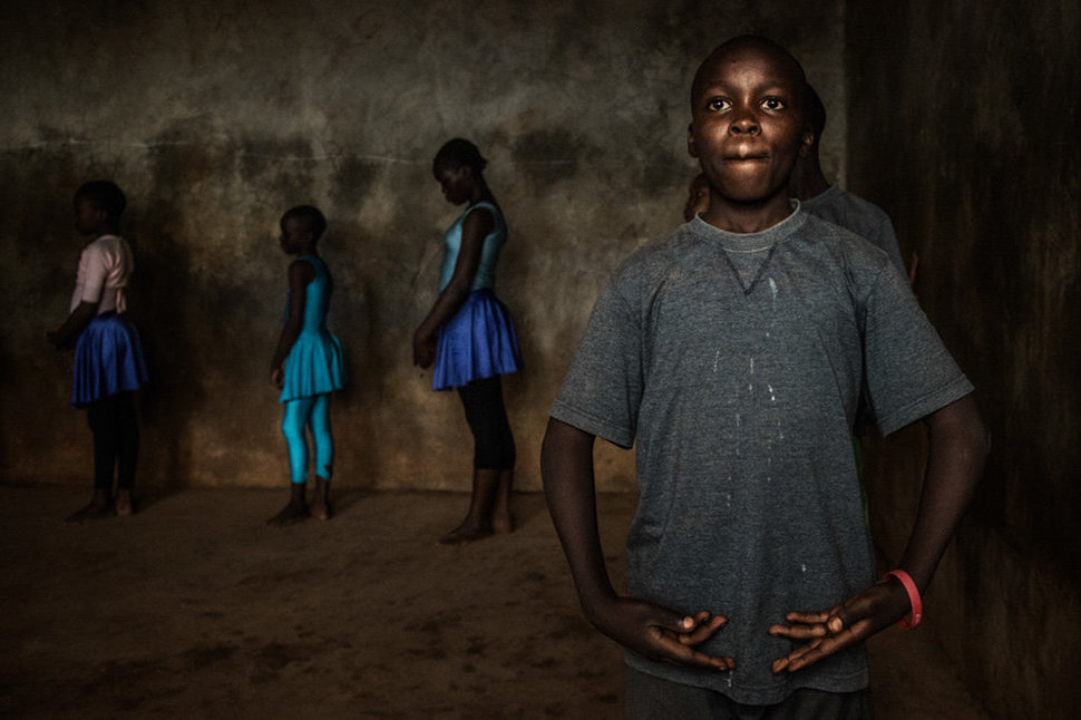 Shamick, 13 is one of the older students, and he is part of the group that train in Kenya dance studio in Karen as well. When Mike, the teacher needs to take a call, or leave the class for a few minutes, George is quick to make sure the class continues.
