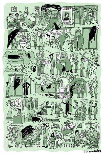 Комикс-версия книг о Гарри Поттере от американской художницы-иллюстратора Люси Нисли