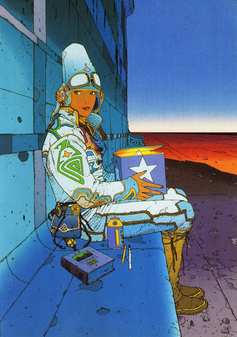 Иллюстрации фантаста Jean Giraud, годы жизни 1938 — 2012