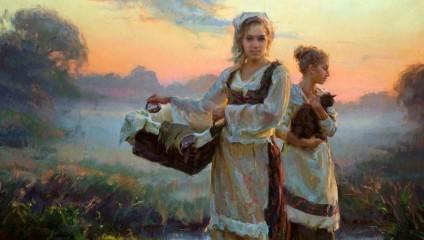 Очаровательные картины наполненные нежным трепетом любви Художник Daniel F. Gerhartz