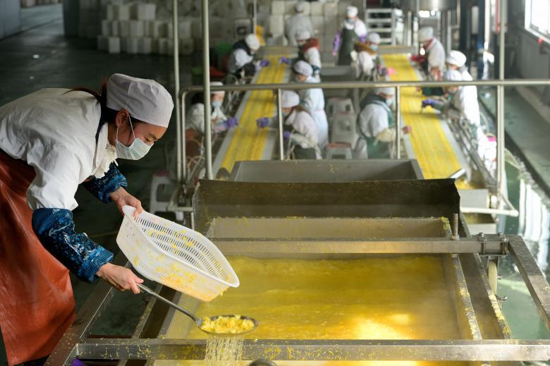 Пищевая фабрика в Ичане в провинции Хубэй.