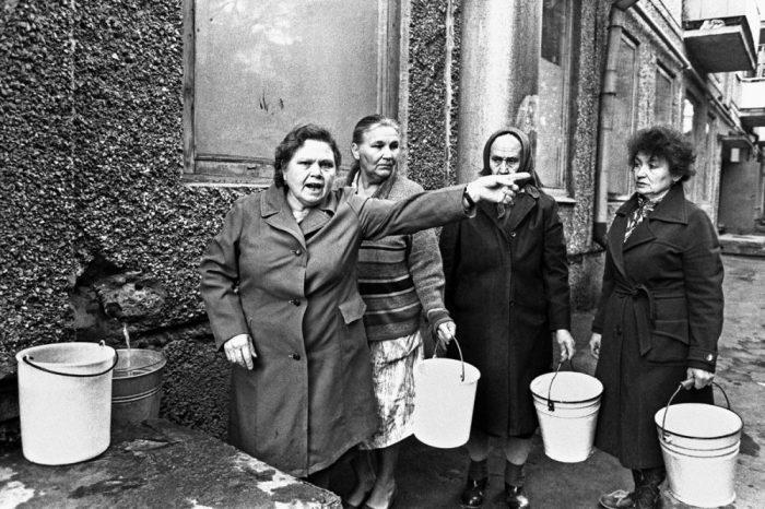 Перебои с водой в Орле в 1991 году.