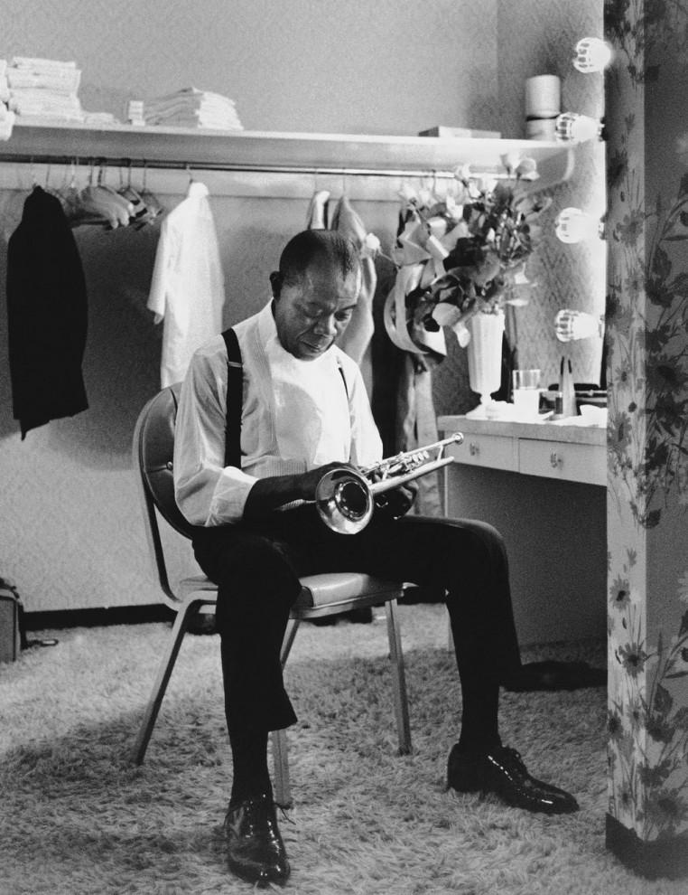 Луи Армстронг в гостинице International Hotel в Лас-Вегасе, штат Невада, 1970 год.