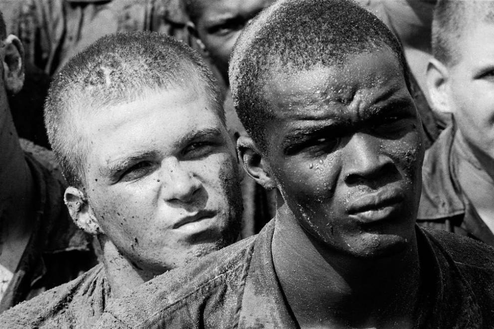 Рекрутское депо морской пехоты Пэррис-Айленд, Южная Каролина, 1970 год.