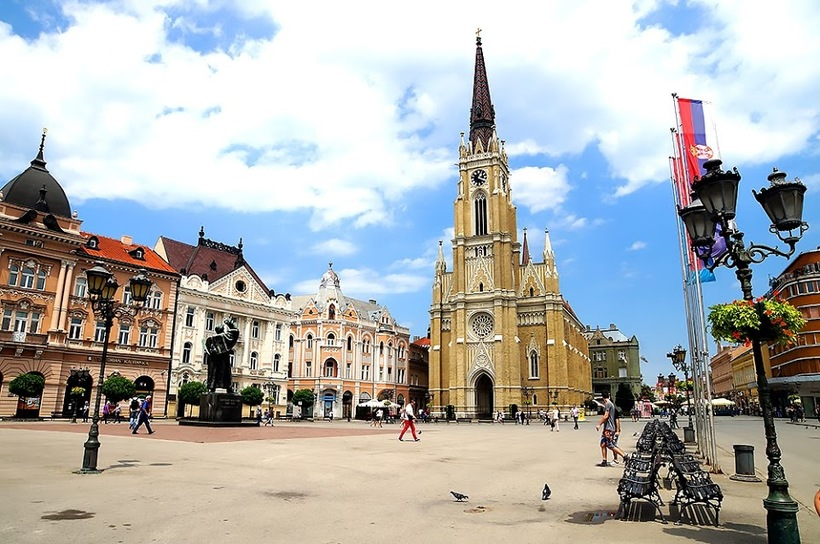 Прогулка по сербскому городу Нови-Сад