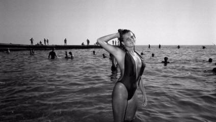 Сочинские пляжи 1988 года в объективе бельгийского фотографа