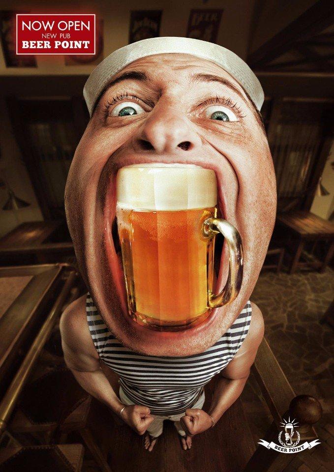Креативная реклама: пивной паб Beer Point