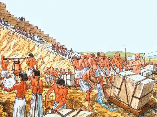Представление о том, что пирамиды были построены рабами восходят к античному историку Геродоту