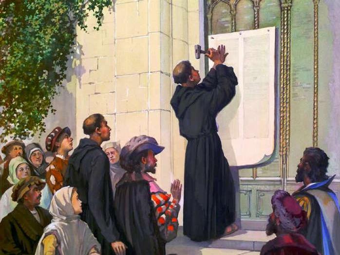 Мартин Лютер не прибивал свой документ к дверям Замковой церкви, а отправил его письмом к архиепископу