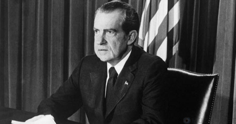 Ри́чард Ми́лхауз Ни́ксон — 37-й президент Соединённых Штатов Америки.