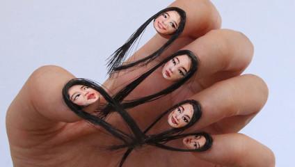Волосатый нейл арт от корейского иллюстратора