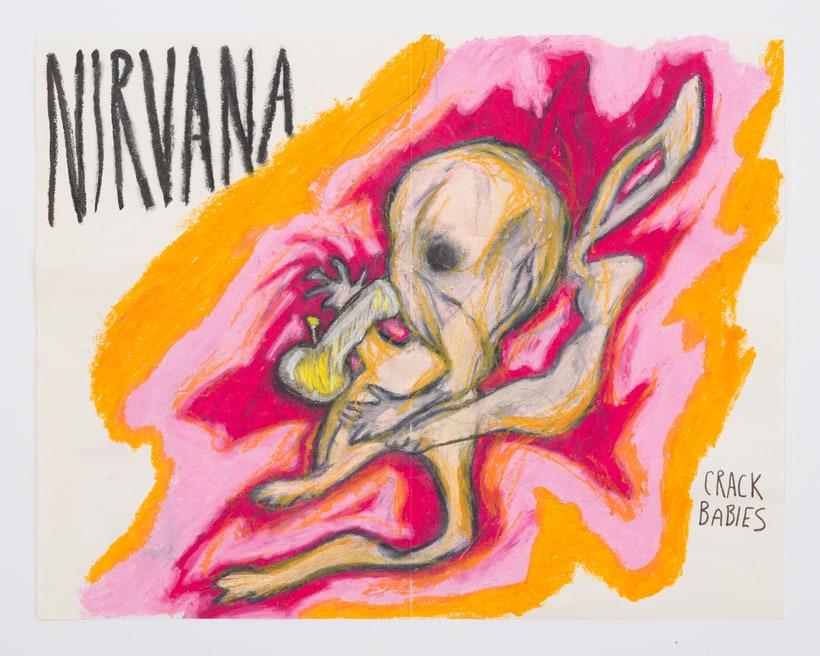 Курт Кобейн из Nirvana: художественные работы фронтмена Nirvana