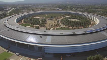 7 самых интересных фотографий новой штаб-квартиры Apple