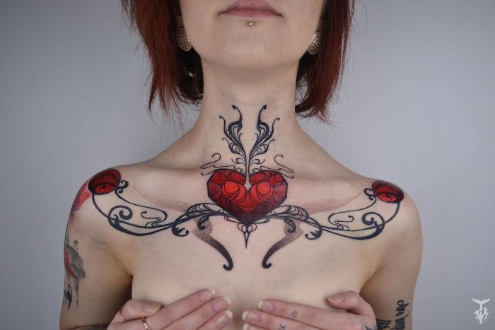Татуировки, вдохновленные природой и стилем модерн от Boglárka Tóth