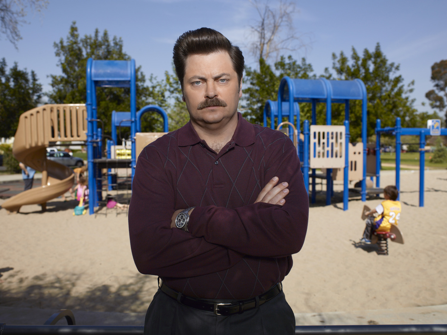UNDATED --PARKS AND RECREATION -- Season: 3 -- Pictured: Nick Offerman as Ron Swanson -- Photo by: Mitchell Haaseth/NBC  For Alex Strachan (Postmedia News)    TV-PARKS