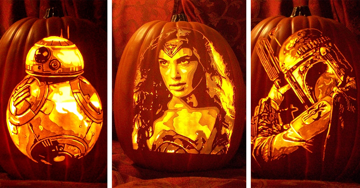 Хэллоуин скоро: резьба на тыквах известных персонажей от Alex Wer