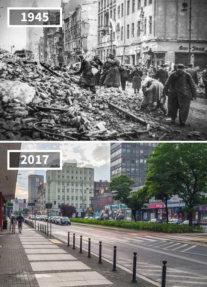 Удивительные фотографии, которые покажут, как изменились города мира за последнее столетие