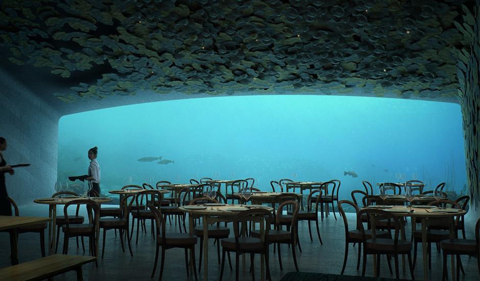 Такого Вы ещё не видели: подводный ресторан в Норвегии от бюро Snøhetta