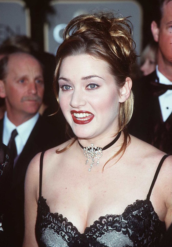 "385257 01 : 1/18/98 Beverly Hills, CA. ""Titanic"" star Kate Winslet at the Golden Globe Awards held at the Beverly Hilton."