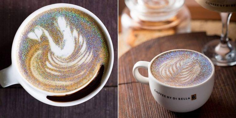 «Блестящий Капучино» — новый тренд в украшении кофейного напитка