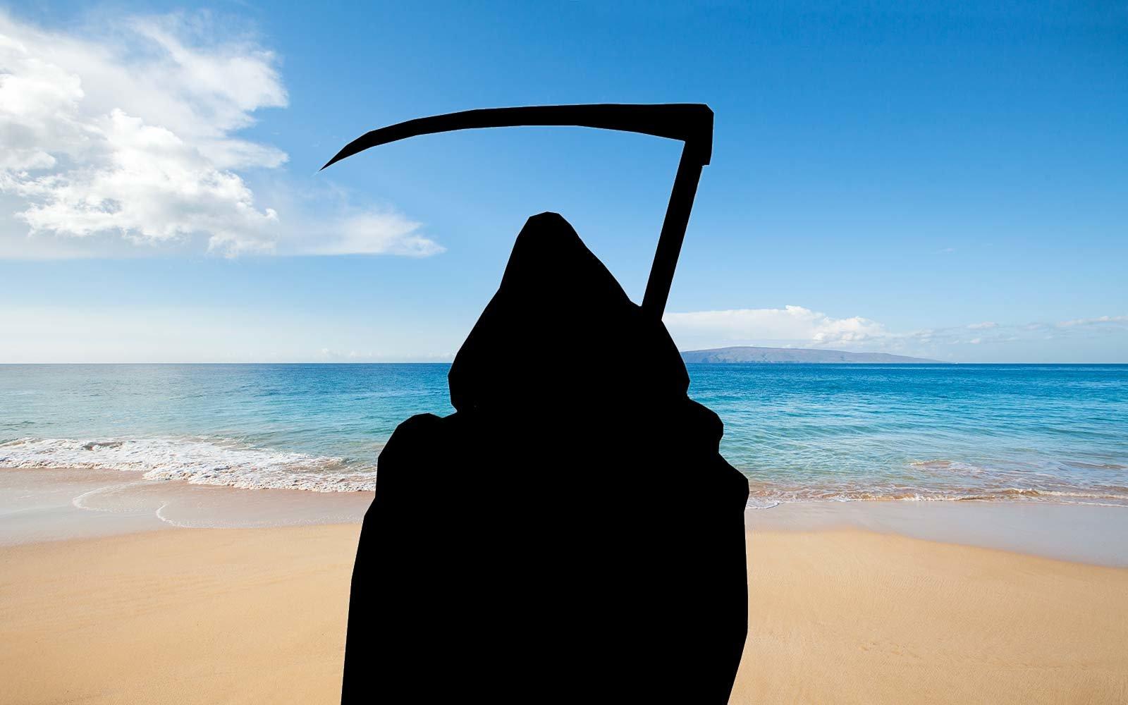 Смерть с косой в качестве спасателя Малибу: проект «The Swim Reaper»
