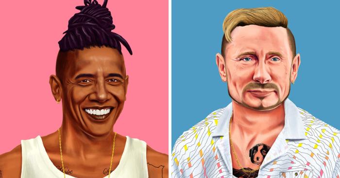 Амит Шимони и его юмористическая серия портретов Hipstory