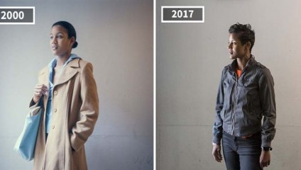 Фотограф показала, как изменились её друзья на примере снимков 2000 и 2017 годов