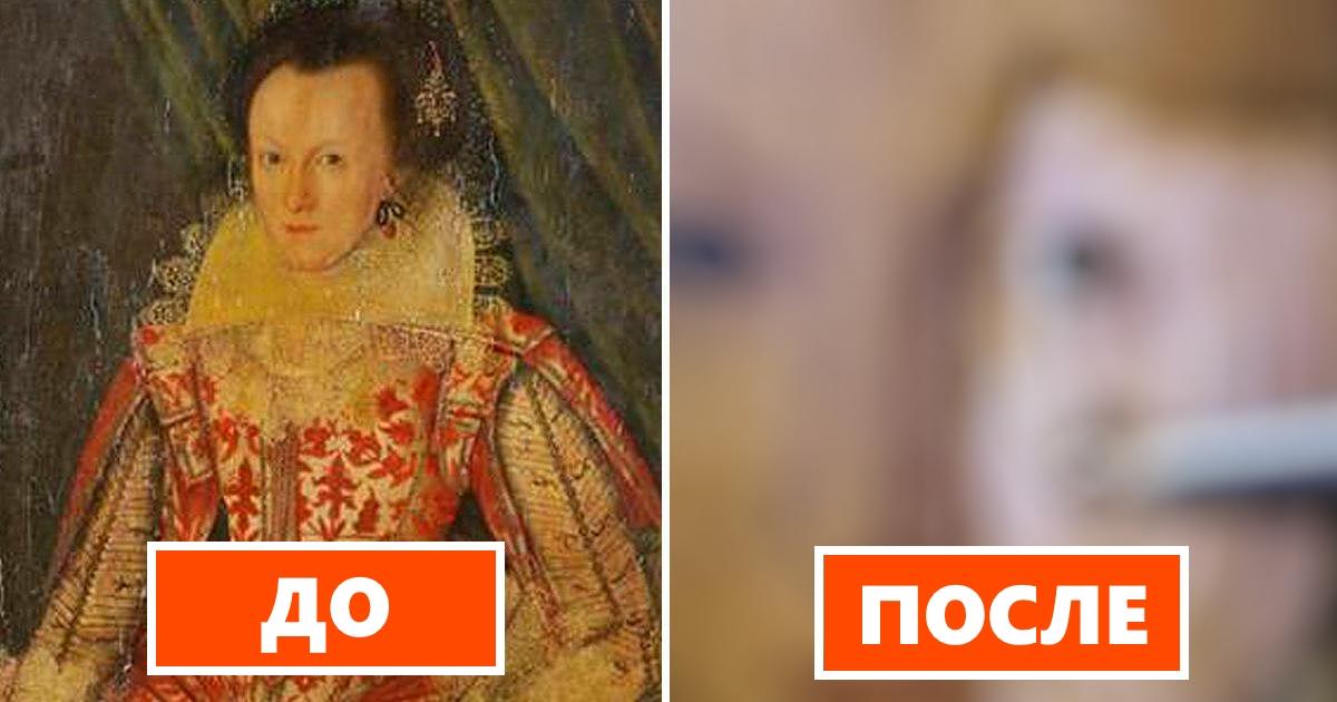 Эксперт удалил пожелтевший 200-летний лак с 400-летней картины
