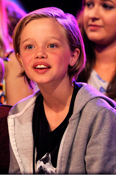 INGLEWOOD, CA - MARCH 28:  Shiloh Nouvel Jolie-Pitt in the audience during Nickelodeon's 28th Annual Kids' Choice Awards held at The Forum on March 28, 2015 in Inglewood, California.  (Photo by Lester Cohen/KCA2015/WireImage)