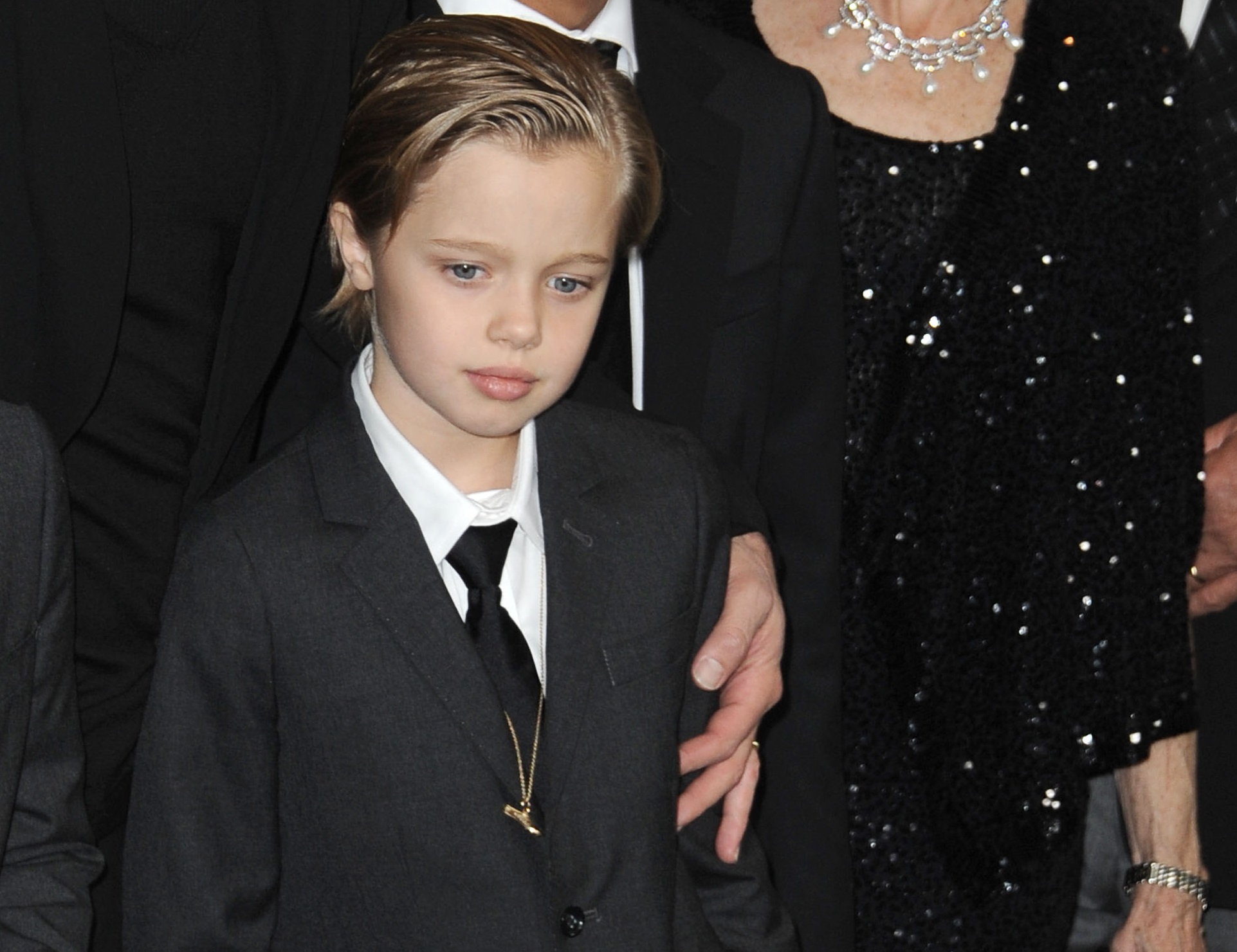 Dec. 15, 2014 - Los Angeles, California, U.S. - Brad Pitt, Pax Thien Jolie-Pitt, Shiloh Nouvel Jolie-Pitt, Maddox Jolie-Pitt attending the Los Angeles Premiere of ''Unbroken'' held at the Dolby Theatre in Hollywood, California on December 15, 2014. 2014(Credit Image: ZUMAPRESS.com/Global Look Press)