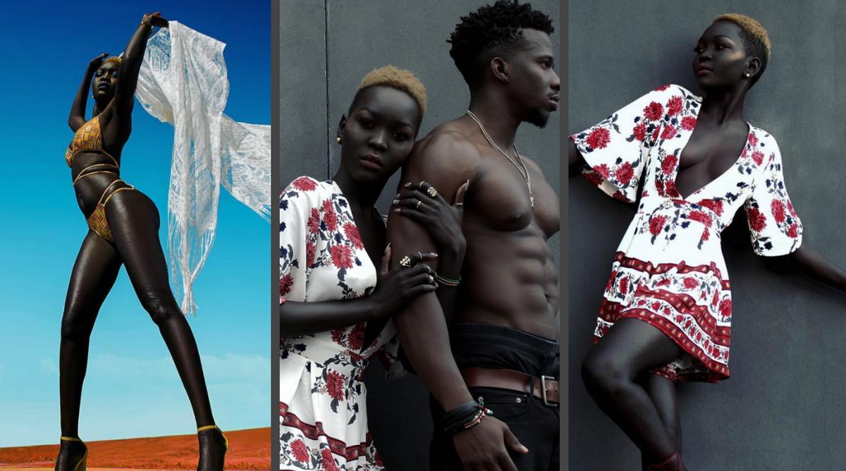 Королева тьмы: Модель из Судана покорила общество невероятно темным цветом кожи