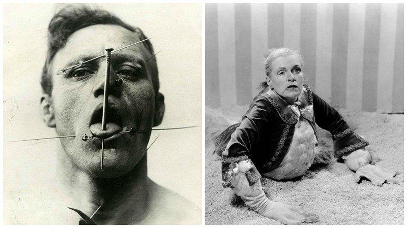 Циркачи прошлого века — чем страшны эти люди с удивительными особенностями