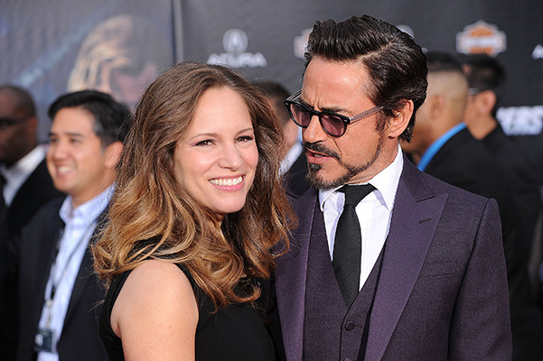HOLLYWOOD, CA - APRIL 11:  Actor Robert Downey Jr. and his wife Susan Downey arrive at the premiere of Marvel Studios' 'The Avengers' at the El Capitan Theatre on April 11, 2012 in Hollywood, California.  (Photo by Jason Merritt/Getty Images)