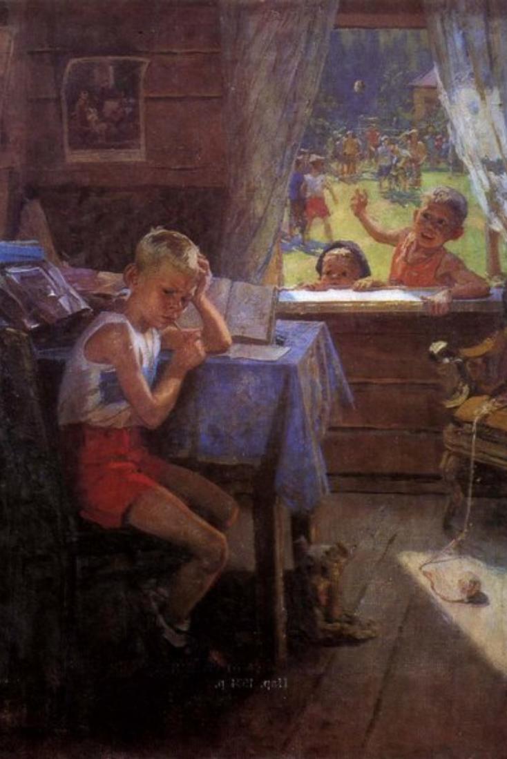 Самой популярной открыткой в СССР была репродукция новогодней картины с котиком