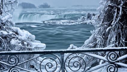Ниагарский водопад замерз и выглядит как Нарния