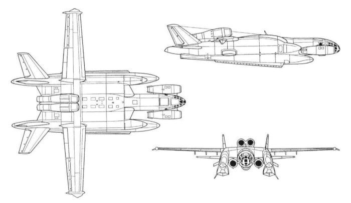 ВВА-14 с двигателями вертикального взлета и посадки.