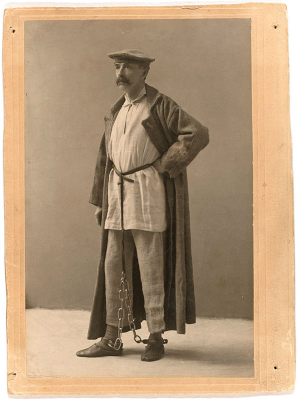 Кеннан в костюме сибирского каторжника