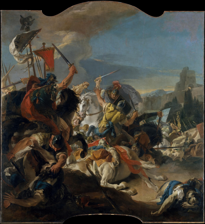Битва римлян с германцами. С картины Джованни Батисты Тьеполо