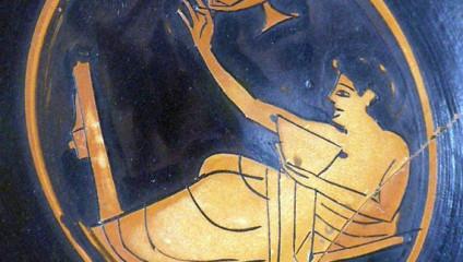 Мужское развлечение на вечеринке в Древней Греции