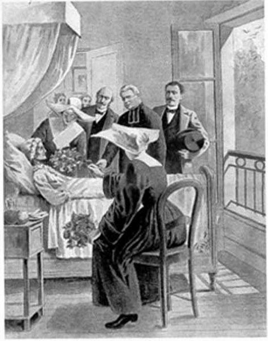 Консилиум врачей у постели Бланш Монье.