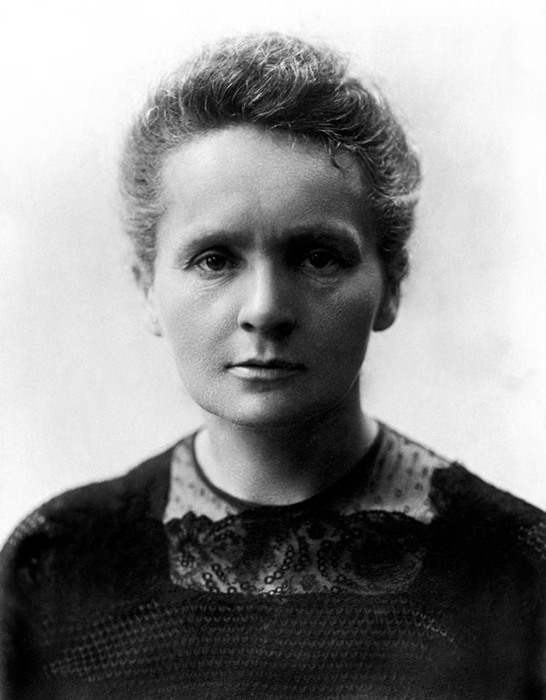 Marie Curie, a physicist and chemist of Polish upbringing and, subsequently, French citizenship. She was a pioneer in the field of radioactivity and the first twice-honored Nobel laureate.