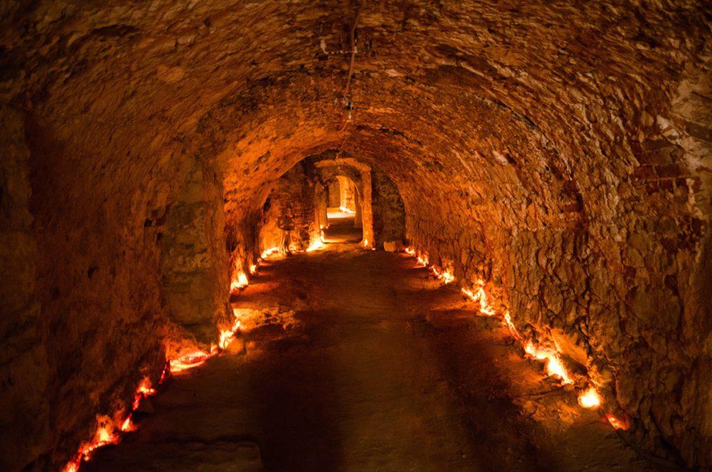 Подземный город в Чехии