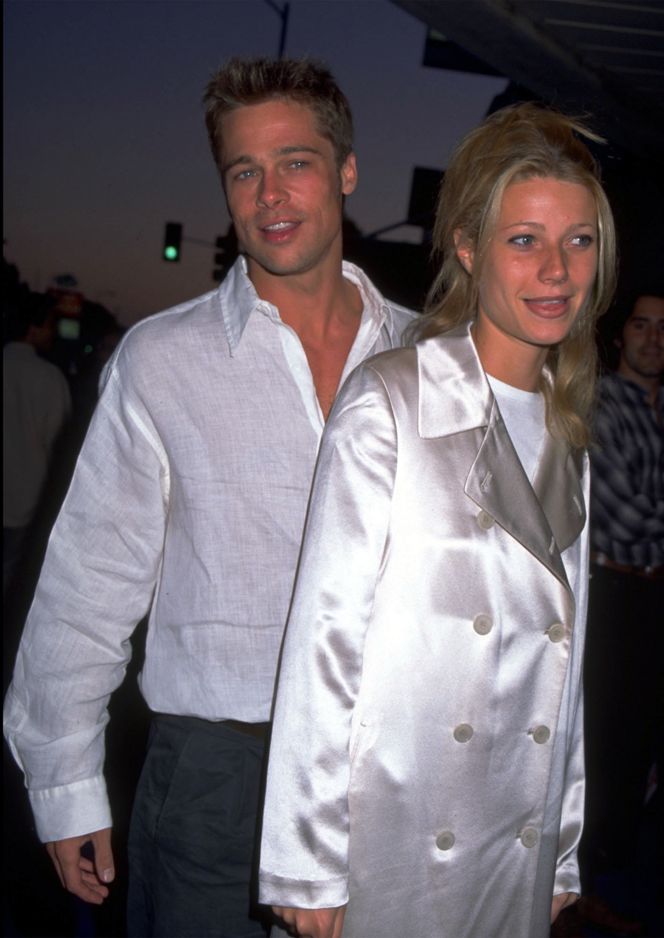 UNDATED FILE PHOTO: Brad Pitt and Gwyneth Paltro. (Photo by Diane Freed)