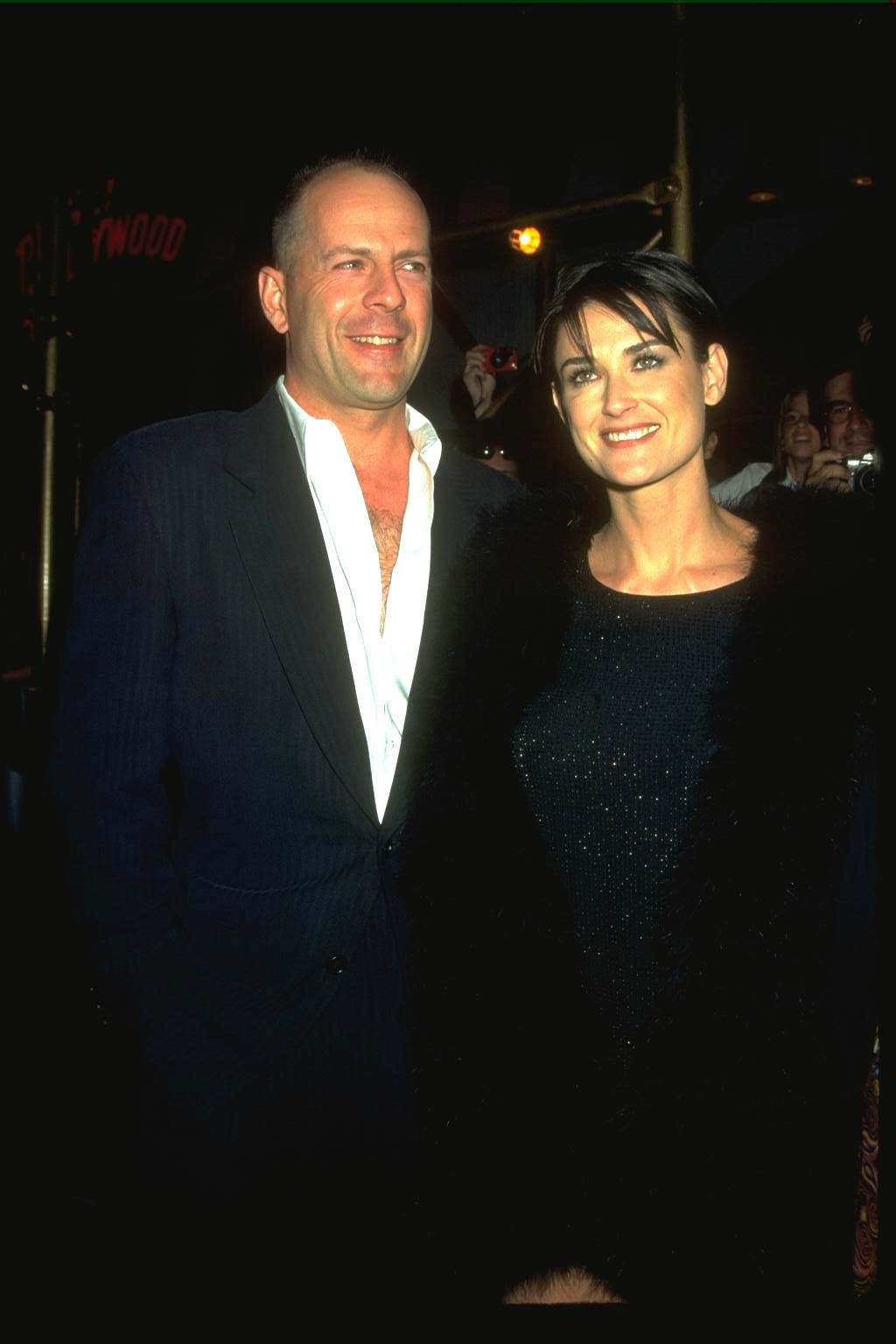 366722 03: UNDATED FILE PHOTO: Actor Bruce Willis and actress Demi Moore. On October 25, 2000, it has been reported that the couple, who separated in 1998 filed for a divorce at a courthouse near Sun Valley, Idaho last week. (Photo by Diane Freed/Newsmakers)