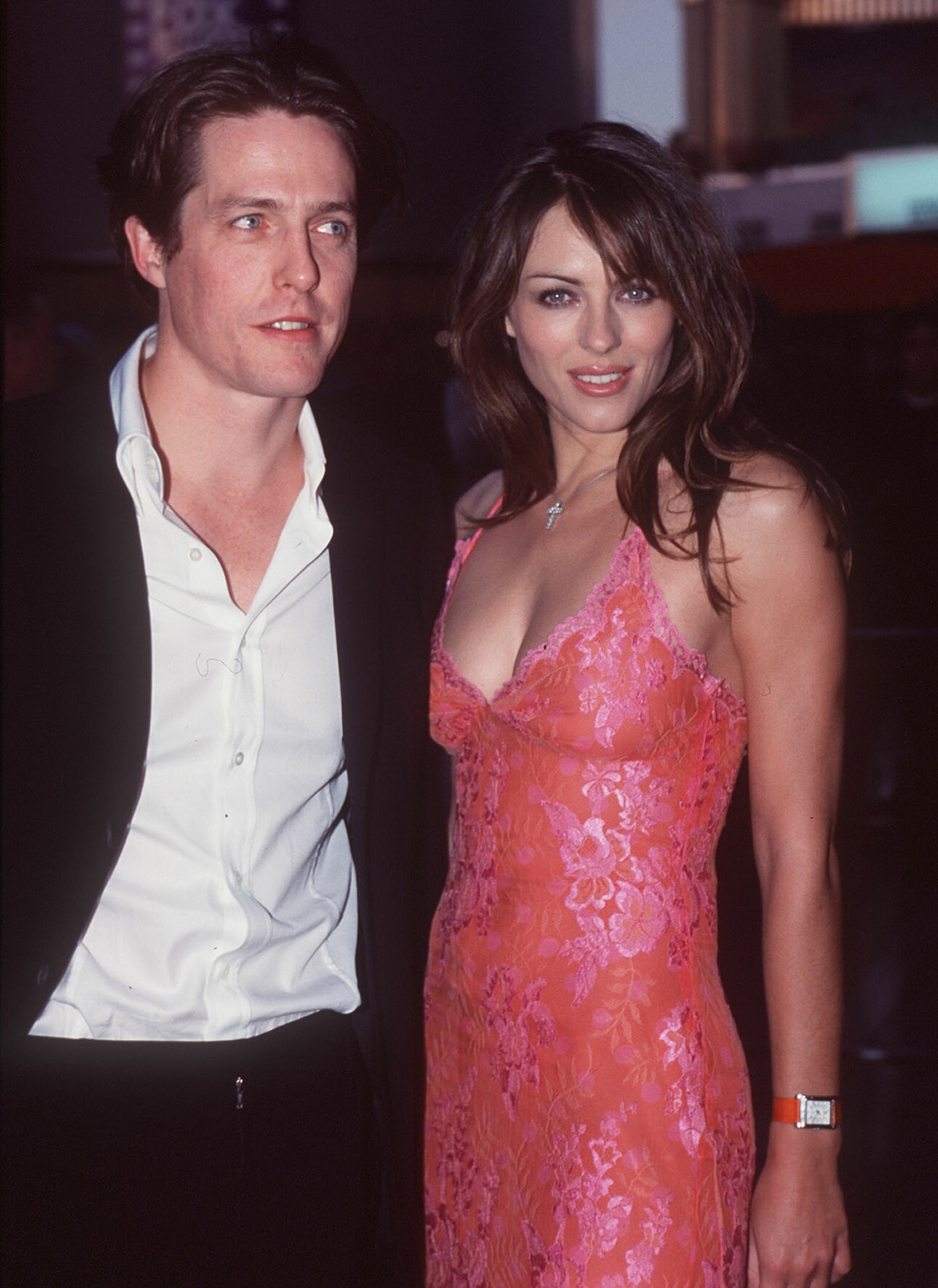 SYDNEY - OCTOBER 01:  Elizabeth Hurley and Hugh Grant at the Sydney movie premiere of 'Mickey Blue Eyes'. (Photo by Patrick Riviere/Getty Images). *** Local Caption *** Elizabeth Hurley;Hugh Grant