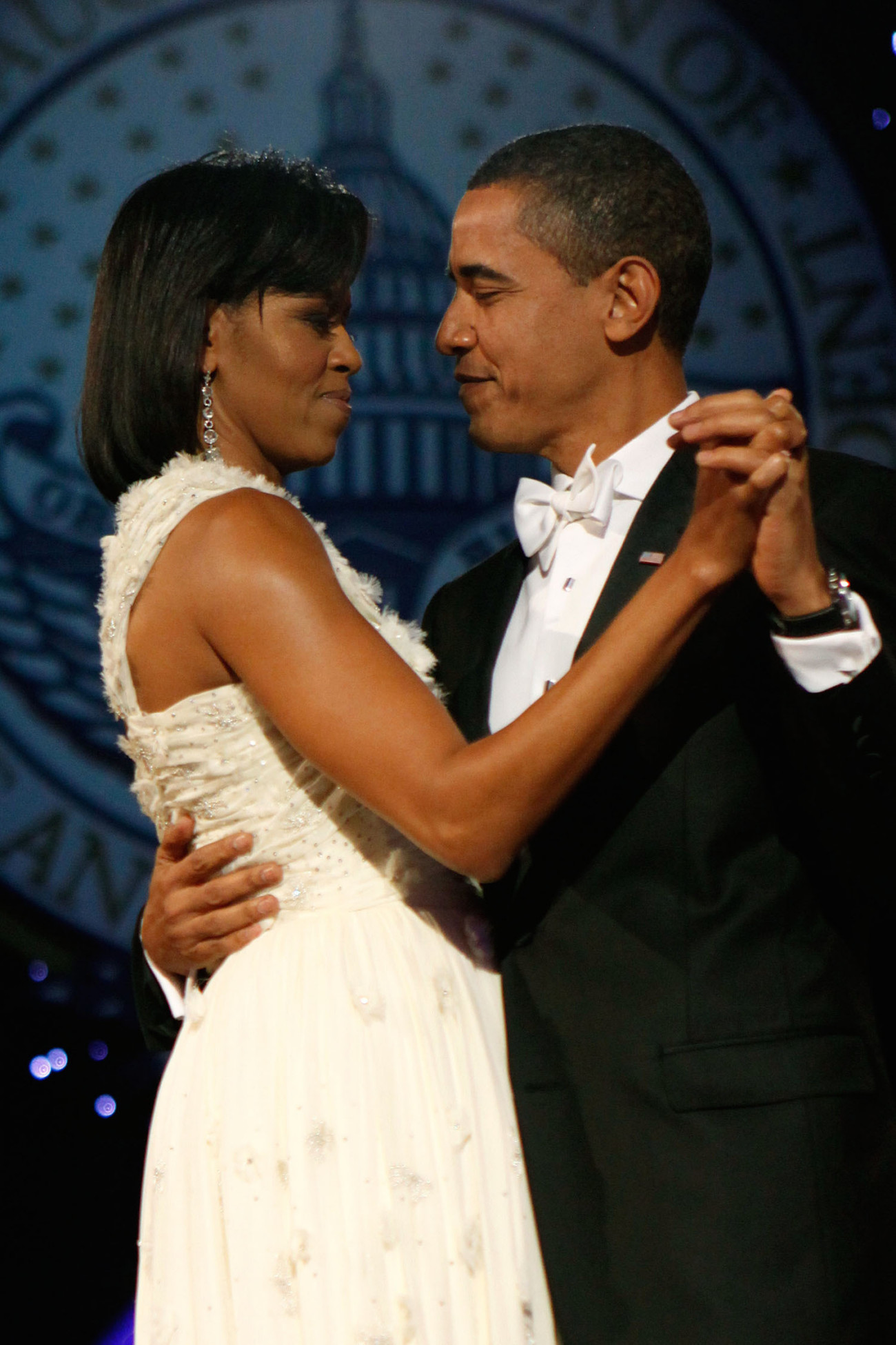attends the Neighborhood Inaugural Ball at the Washington Convention Center on January 20, 2009 in Washington, DC. Obama became the first African-American to be elected to the office of President in the history of the United States.