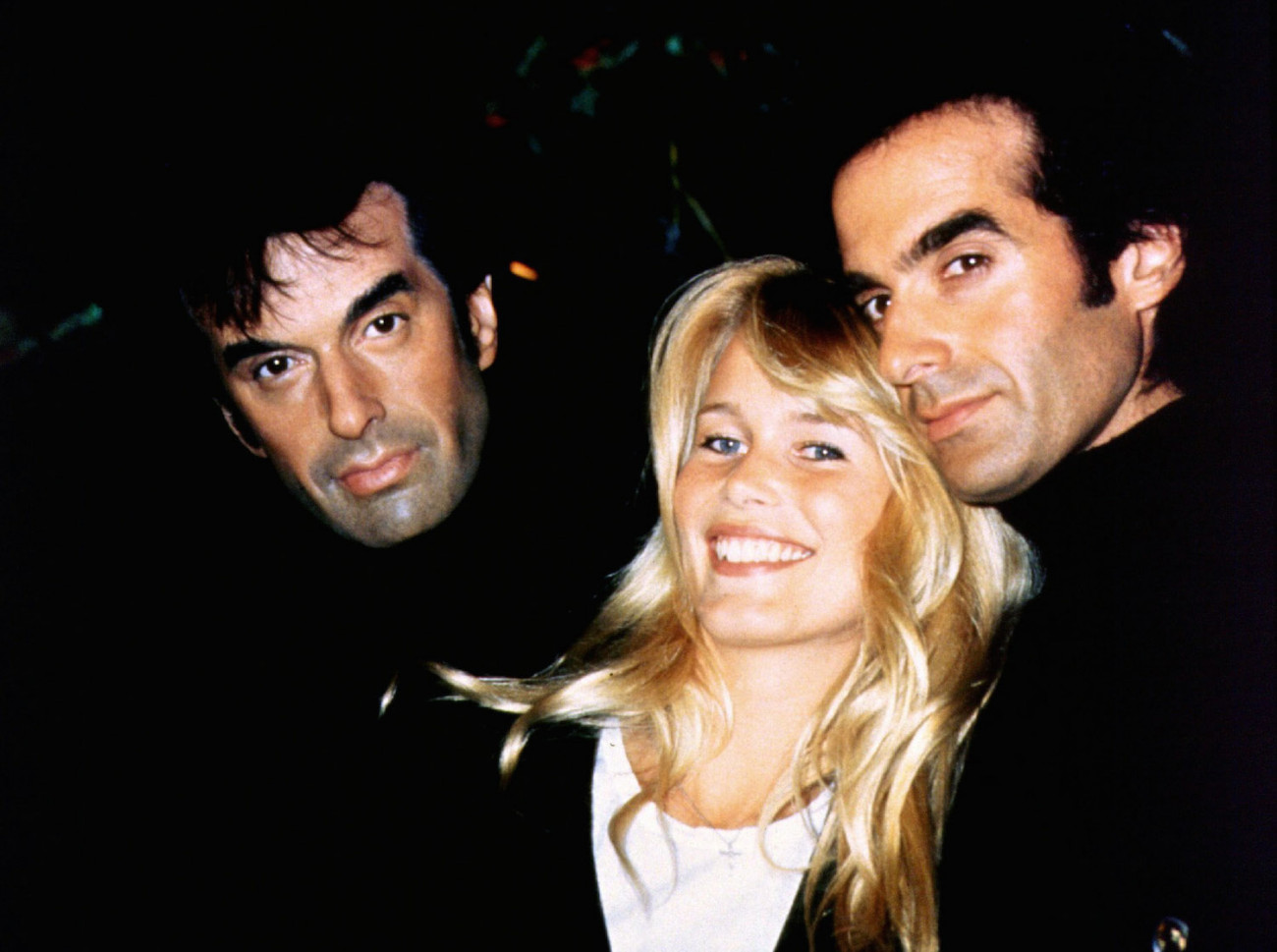 The David Copperfield (right) and his wife Claudia Schiffer admire his lifelike wax portrait (left), part of the $20 million Madame Tussaud's Las Vegas attraction opening at The Venetian March 9, 1999. Madame Tussaud's Las Vegas is the US debut of The Tussauds Group Ltd., Europe's leading attraction developer and operator. (Photo by courtesy of Madame Tussaud )