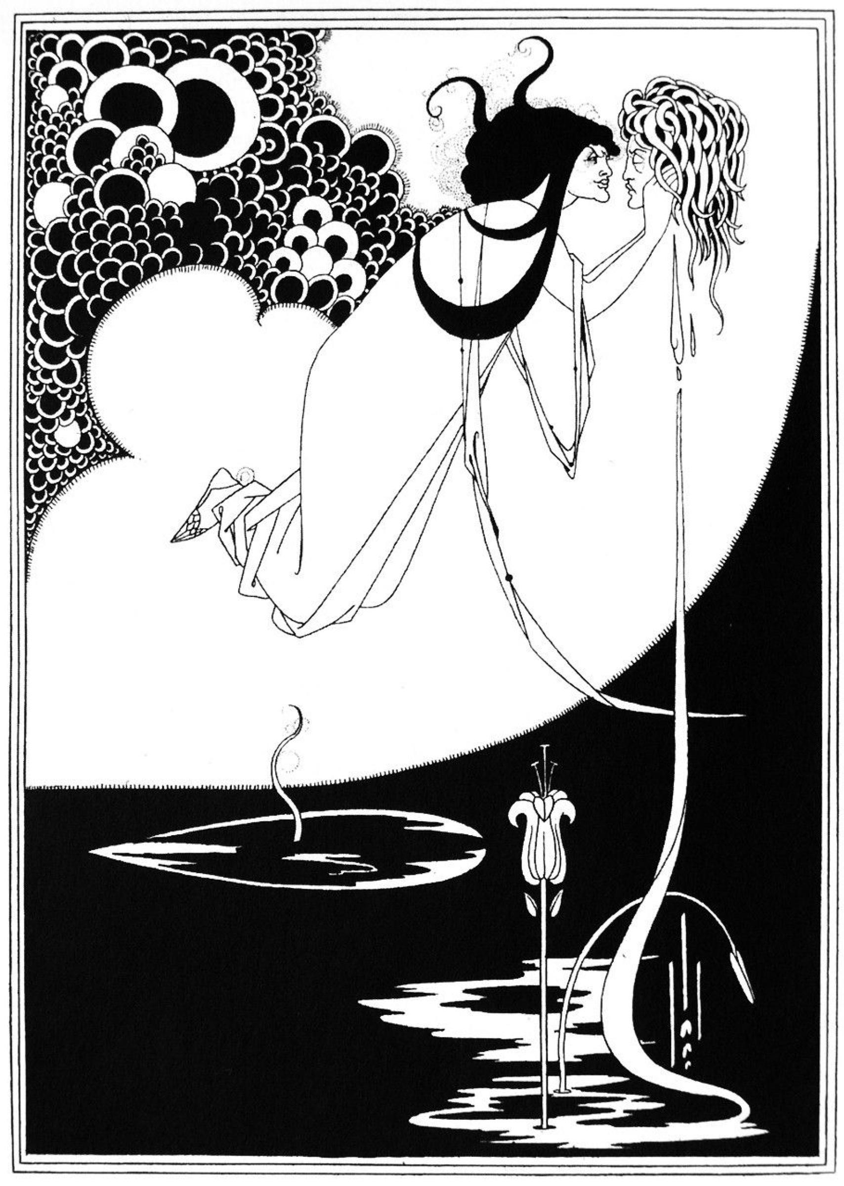 Кульминация. Иллюстрация к пьесе Оскара Уайльда «Саломея»,  Обри Бердслей