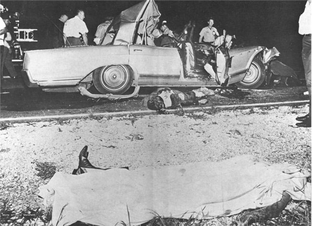 29 июня 1967-го года машина, в которой едут Мэнсфилд и Броди, попадает в туман и сталкивается с грузовиком. Любовники и шофёр погибают на месте.